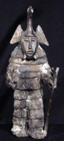 Bronze figure from Burkina Faso